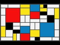 El pintor holandés Piet Mondrian para niños - YouTube