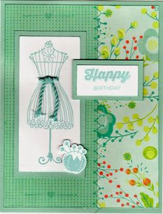 Diary of a Scrapbook Addict: CTMH Blossom Happy Birthday card