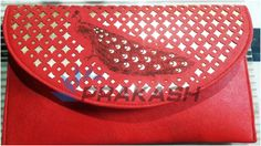 laser cutting and engraving done on a beautiful purse with laser engraving machine by Prakash.