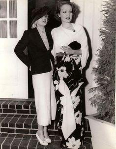 Jean Harlow and Marlene Dietrich