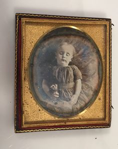 Daguerrotype in Leather Case Post Mortem Young Child