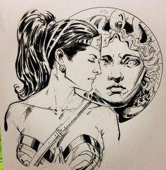 Wonder Woman by Phil Jimenez #WonderWoman #Amazon #warrior #peacemaker #hero #sketch #BostonComicCon