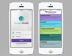 """Check out new work on my @Behance portfolio: """"Knugget Health App""""…"""