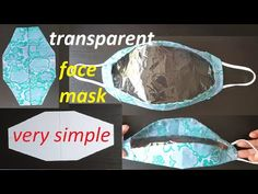 Clear Face Mask, Easy Face Masks, Diy Face Mask, Sewing Patterns Free, Free Sewing, Sewing Ideas, Hygiene, Smile Face, Face Face