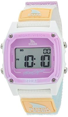 Freestyle Shark Quartz Plastic and Nylon Sport Watch ColorWhite Model 10026835 ** Check out this great product.Note:It is affiliate link to Amazon.