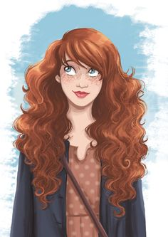 """""""Rouquine S.Lezziero"""" by Stephanie Lezziero ~ Even though the curls and eye-color match Felicity more, the mass of hair and the sweet freckled face make me think of a modern-day Glory. :)"""