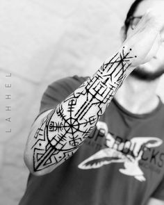 Vikinger Tattoo – Nordic rune pagan arm tattoo by lahhel – Norse Mythology-Vikings-Tattoo Pagan Tattoo, Norse Tattoo, Celtic Tattoos, Viking Rune Tattoo, Maori Tattoos, Tribal Tattoos, Norse Mythology Tattoo, Tattoo Symbols, Forearm Tattoos