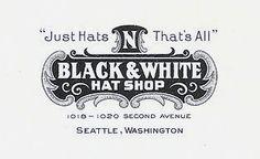 Black and white hat shop  #logo