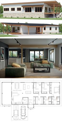 Architecture, Home Plans, House Plans Simple House Plans, New House Plans, Dream House Plans, Modern House Plans, Modern House Design, House Floor Plans, Simple House Design, Design Your Own Home, Casas Containers