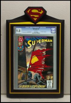 custom superman cgc comic book frame