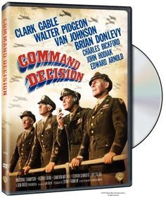 Directed by Sam Wood.  With Clark Gable, Walter Pidgeon, Van Johnson, Brian Donlevy. Army generals struggle with the decision to prioritize bombing the German factories producing new jet fighters over the extremely high casualties the mission will cost.