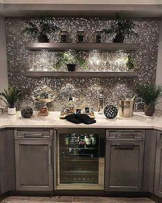 Trendy home bar designs basement wine cellar - decorationroommen Home Bar Areas, Home Bar Designs, Basement Designs, Wet Bar Designs, Trendy Home, Küchen Design, Design Styles, Kitchen Backsplash, Kitchen Sink