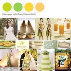 Summer Palette of Chartreuse, Light Green, Yellow + Gold via The Perfect Palette. xo