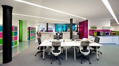 This spectacular award-winning office design features agile workspaces and ping-pong tables that double as desks.