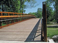 The refurbished bridge over the Clinton River in Utica's Heritage Park was a major portion of the hike and bike trail that was completed in 2011.