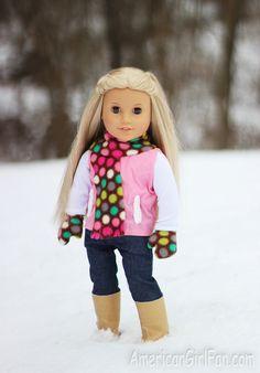 """18"""" doll scarf & mittens - super cute!"""