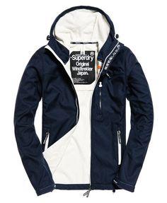 Superdry Hooded Windtrekker Jacket Navy