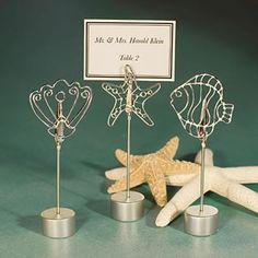 Beach Themed Wedding Place Card Holders
