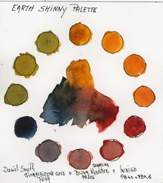 Triad of Earth Colors Watercolor Mixing, Watercolor Images, Watercolour Painting, Painting & Drawing, Watercolours, Painting Tricks, Watercolour Challenge, Watercolor Sketchbook, Color Mixing Chart
