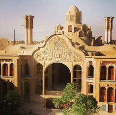 The Borujerdi House is a historic house in Kashan Iran.  The house was built in 1857 by architect Ustad Ali Maryam for the wife of Seyyed Mehdi Borujerdi a wealthy merchant. The wife came from the affluent Tabatabaei family which Seyyed Mehdi fall in love with her and built this house for her.  photo by @omid_leader_71  ____________________________________  Direct your images that has been taken in iran for us... ____________________________________  Contact with -------989212252919…