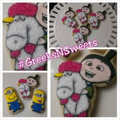 Agnes and Unicorn cookies... GREEKSNSWEETS by GreeksNSweets, $26.00