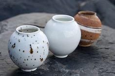 Mini moon jars from Adam Buick Ceramic Tableware, Ceramic Bowls, Ceramic Art, Pottery Vase, Ceramic Pottery, Earthenware, Stoneware, Moon Jar, Mixed Media Sculpture
