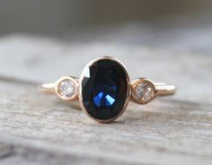 https://www.bkgjewelry.com/sapphire-ring/297-18k-yellow-gold-diamond-blue-sapphire-ring.html 1.72 Cts. Cornflower Blue Sapphire Diamond Ring in 14K Rose Gold