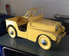Pedal Cars, Wooden Toys, Vintage, Miniatures, Autos, Wooden Toy Plans, Wood Toys, Woodworking Toys, Vintage Comics