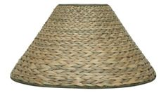 "Sea Grass Lamp Shade With Soft Luxurious Rich Colored Lining #SG 7""x20""x12""; 7""x23""x14"""