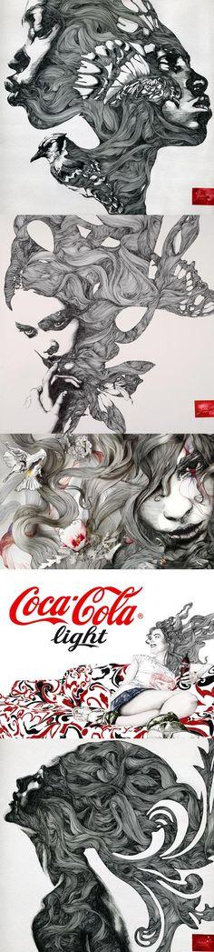 Le portfolio de Gabriel Moreno. Des illustrations fines et travaillées. (Merci Gwenola pour le link).