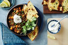 Curried beef and sweet potato bowl