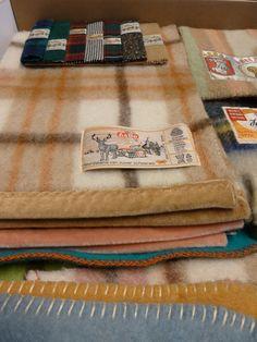 wol samples in het textielmuseum