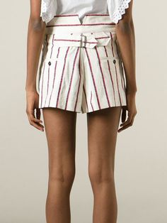 Isabel Marant Étoile Striped Shorts - Spazio Pritelli - Farfetch.com