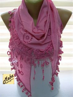 Pink scarf-Fashion scarf  gift Ideas For Her Women's by MebaDesign