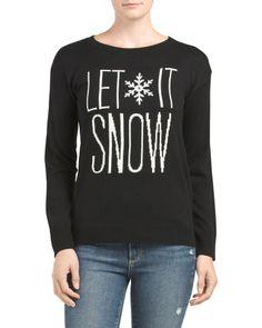 LET IT SNOW SWEATER #style #fashion #trend #onlineshop #shoptagr
