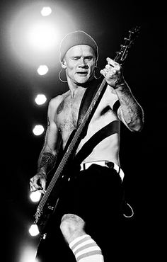 Flea of Red Hot Chili Peppers performs in Indio, California.