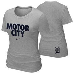Nike Detroit Tigers Womens Motor City 2013 Local T-Shirt - Ash