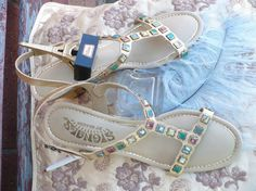 Golden Oldies - 60's Cleopatra style sandals. Signals by Beacon. Not so much my style, but like the ones a childhood friend wore...  http://img2.etsystatic.com/000/0/6226863/il_570xN.228080146.jpg