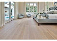 French White Oak Light Brushed, White Oiled, with a Natural Hard-wax Oil Finish