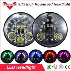 "73.78$  Watch now - ""RGB 45W 5.75 inch round motorcycle headlight harley daymaker 5 3/4"""" led headlamp for Davidson dyna street bob 750""  #buyonline"