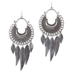 Gathering Eye Feather Earrings