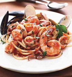 Linguine ai Frutti di Mare. Enjoy with Brown Rice, Quinoa Pasta or even Spaghetti squash!