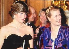 March 9, 1981: Lady Diana Spencer making her first official appearance with Princess Grace of Monaco at a gala evening at Goldsmith's Hall to raise funds for the Royal Opera House in London.