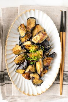 Tossed in a sweet and savory miso sauce, this Stir Fry Miso Eggplant is an excellent dish to quickly whip up on a busy weeknight. Whether it's a side or main, it's ready in just 20 min with simple pantry ingredients. #stirfry #miso #eggplant | Easy Japanese Recipes at JustOneCookbook.com Easy Japanese Recipes, Japanese Dishes, Japanese Food, Japanese Eggplant Recipes, Japanese Style, Miso Eggplant, Eggplant Dishes, Indian Food Recipes, Asian Recipes