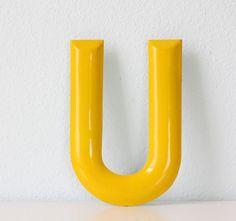 Yellow Letter U: lovely yellow U!