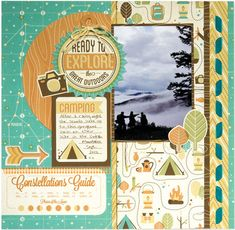 Layout created for WeR Memory Keepers using products from the Happy Camper Collection
