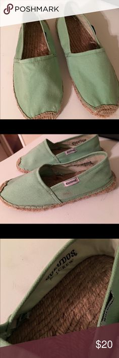 Soludos for J. Crew size 37 Perfect for the beach! Great condition with just a couple minor spots- have not been treated. Soludos Shoes Espadrilles