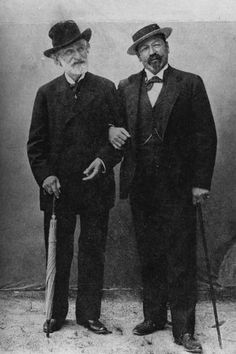 Giuseppe Verdi and Francesco Tamagno Photographic Print Romantic Composers, Classical Music Composers, Opera Singers, Carnival Costumes, Fleetwood Mac, Portraits, Portrait Photo, Stretched Canvas Prints, Vintage Photography