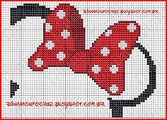 Asciugamano Minnie 2/3 Fuse Beads, Cross Stitch Baby, Cross Stitch Patterns, Cross Stitching, Cross Stitch Embroidery, Minnie Mouse Bow, Graph Crochet, Stitch Cartoon, Plastic Canvas Patterns