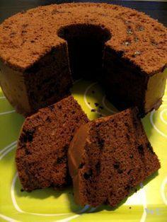 Double Chocolate Chips Chiffon Cake Recipe